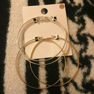 Brand new Forever 21 hoop earrings!